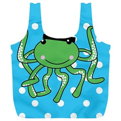 Octopus Sea Animal Ocean Marine Full Print Recycle Bags (l)
