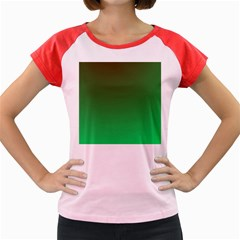 Course Colorful Pattern Abstract Green Women s Cap Sleeve T Shirt
