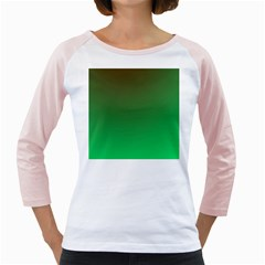 Course Colorful Pattern Abstract Green Girly Raglans