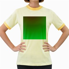 Course Colorful Pattern Abstract Green Women s Fitted Ringer T Shirts