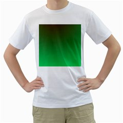 Course Colorful Pattern Abstract Green Men s T Shirt (white) (two Sided)