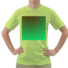 Course Colorful Pattern Abstract Green Green T Shirt