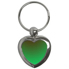 Course Colorful Pattern Abstract Green Key Chains (heart)