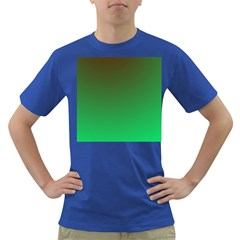 Course Colorful Pattern Abstract Green Dark T Shirt