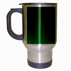 Course Colorful Pattern Abstract Green Travel Mug (silver Gray)