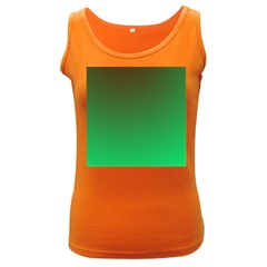 Course Colorful Pattern Abstract Green Women s Dark Tank Top