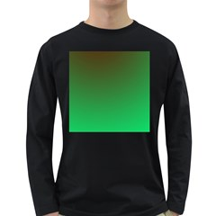 Course Colorful Pattern Abstract Green Long Sleeve Dark T Shirts