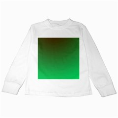 Course Colorful Pattern Abstract Green Kids Long Sleeve T Shirts