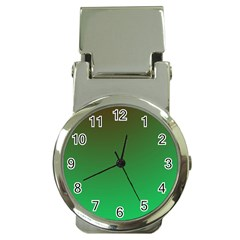 Course Colorful Pattern Abstract Green Money Clip Watches