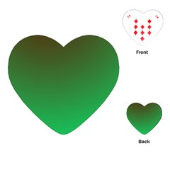 Course Colorful Pattern Abstract Green Playing Cards (heart)