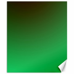 Course Colorful Pattern Abstract Green Canvas 8  X 10