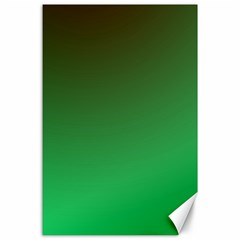 Course Colorful Pattern Abstract Green Canvas 24  X 36