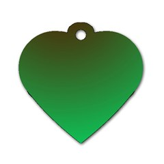 Course Colorful Pattern Abstract Green Dog Tag Heart (two Sides)