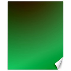 Course Colorful Pattern Abstract Green Canvas 11  X 14