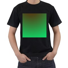 Course Colorful Pattern Abstract Green Men s T Shirt (black)