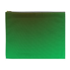 Course Colorful Pattern Abstract Green Cosmetic Bag (xl)