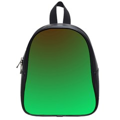 Course Colorful Pattern Abstract Green School Bag (small)
