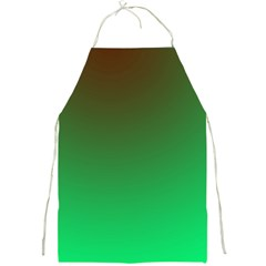 Course Colorful Pattern Abstract Green Full Print Aprons