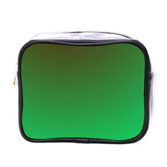 Course Colorful Pattern Abstract Green Mini Toiletries Bags