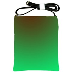 Course Colorful Pattern Abstract Green Shoulder Sling Bags