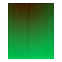 Course Colorful Pattern Abstract Green Shower Curtain 60  X 72  (medium)