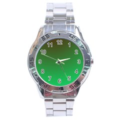 Course Colorful Pattern Abstract Green Stainless Steel Analogue Watch