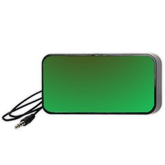 Course Colorful Pattern Abstract Green Portable Speaker (black)