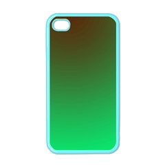Course Colorful Pattern Abstract Green Apple Iphone 4 Case (color)