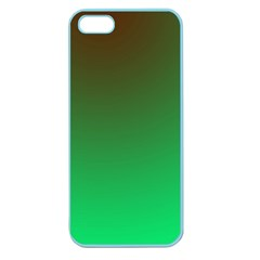 Course Colorful Pattern Abstract Green Apple Seamless Iphone 5 Case (color)