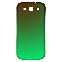 Course Colorful Pattern Abstract Green Samsung Galaxy S3 S Iii Classic Hardshell Back Case