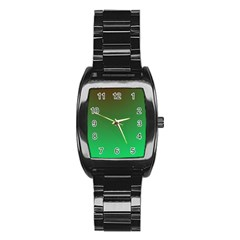 Course Colorful Pattern Abstract Green Stainless Steel Barrel Watch