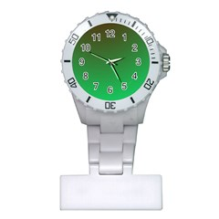 Course Colorful Pattern Abstract Green Plastic Nurses Watch