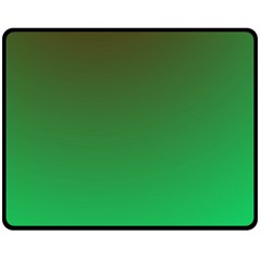 Course Colorful Pattern Abstract Green Double Sided Fleece Blanket (medium)