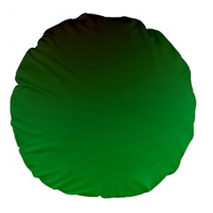 Course Colorful Pattern Abstract Green Large 18  Premium Flano Round Cushions