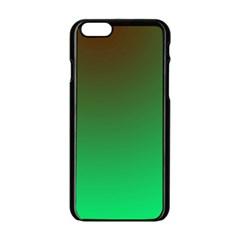 Course Colorful Pattern Abstract Green Apple Iphone 6/6s Black Enamel Case