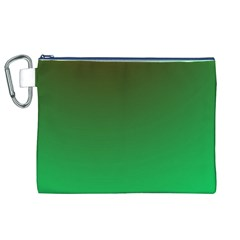 Course Colorful Pattern Abstract Green Canvas Cosmetic Bag (xl)