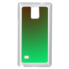 Course Colorful Pattern Abstract Green Samsung Galaxy Note 4 Case (white)