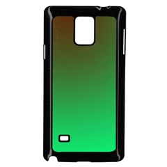 Course Colorful Pattern Abstract Green Samsung Galaxy Note 4 Case (black)