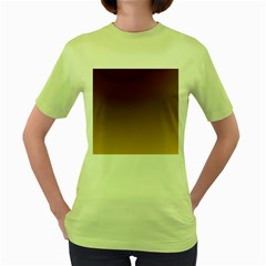Course Colorful Pattern Abstract Women s Green T Shirt