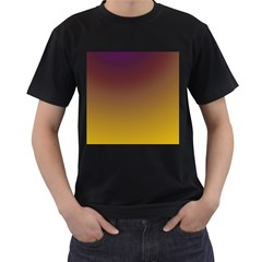 Course Colorful Pattern Abstract Men s T Shirt (black) (two Sided)