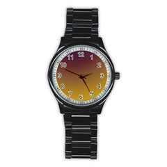 Course Colorful Pattern Abstract Stainless Steel Round Watch