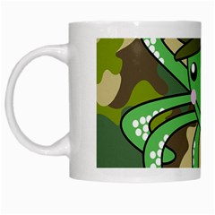 Octopus Army Ocean Marine Sea White Mugs