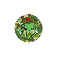 Octopus Army Ocean Marine Sea Golf Ball Marker (4 Pack)
