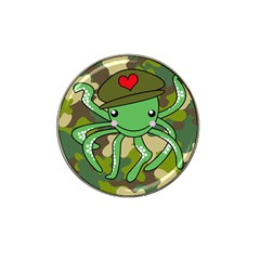 Octopus Army Ocean Marine Sea Hat Clip Ball Marker (4 Pack)