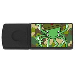 Octopus Army Ocean Marine Sea Rectangular Usb Flash Drive