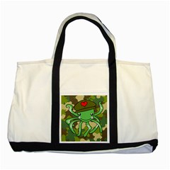 Octopus Army Ocean Marine Sea Two Tone Tote Bag