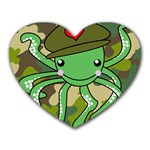 Octopus Army Ocean Marine Sea Heart Mousepads Front