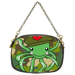 Octopus Army Ocean Marine Sea Chain Purses (two Sides)