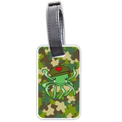 Octopus Army Ocean Marine Sea Luggage Tags (one Side)