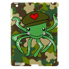 Octopus Army Ocean Marine Sea Apple Ipad 3/4 Hardshell Case (compatible With Smart Cover)